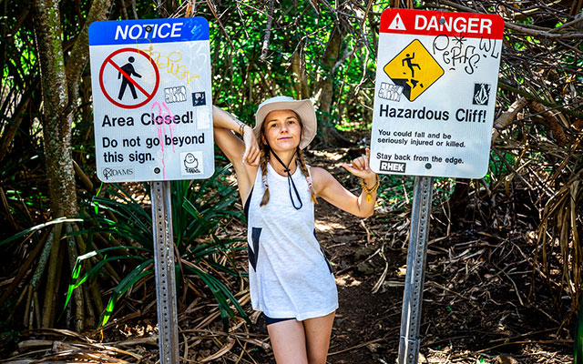 Denise is always keen for some adventure (in HAWAII)